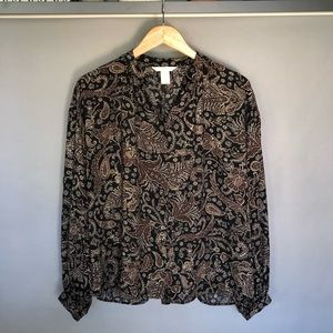 H&M Blouse With Tunic Collar